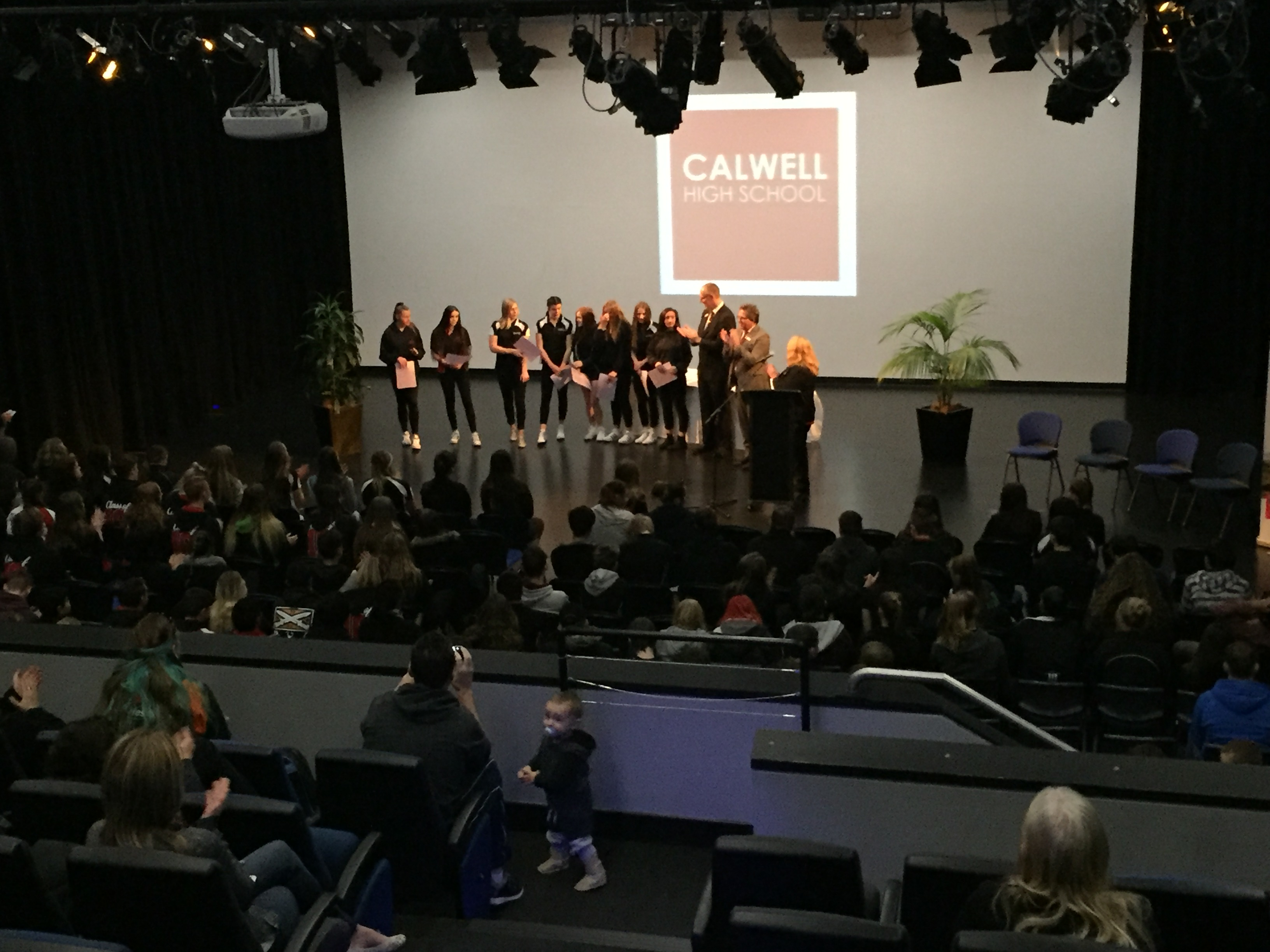 Photo of students receiving awards.